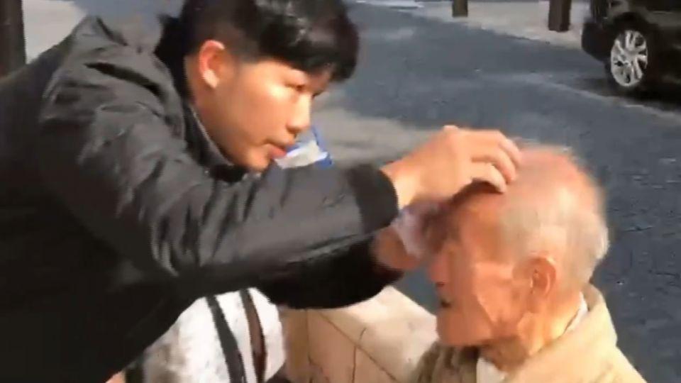 旅行遇日本阿伯跌倒 台灣暖男幫忙包紮傷口