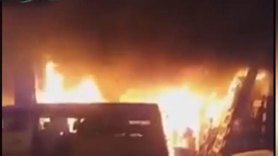 台中油漆行暗夜惡火 火勢迅速竄燒2男喪命