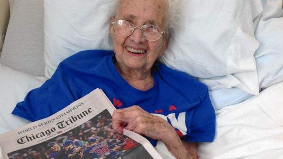 見證小熊奪冠 108歲球迷一週後安詳離世