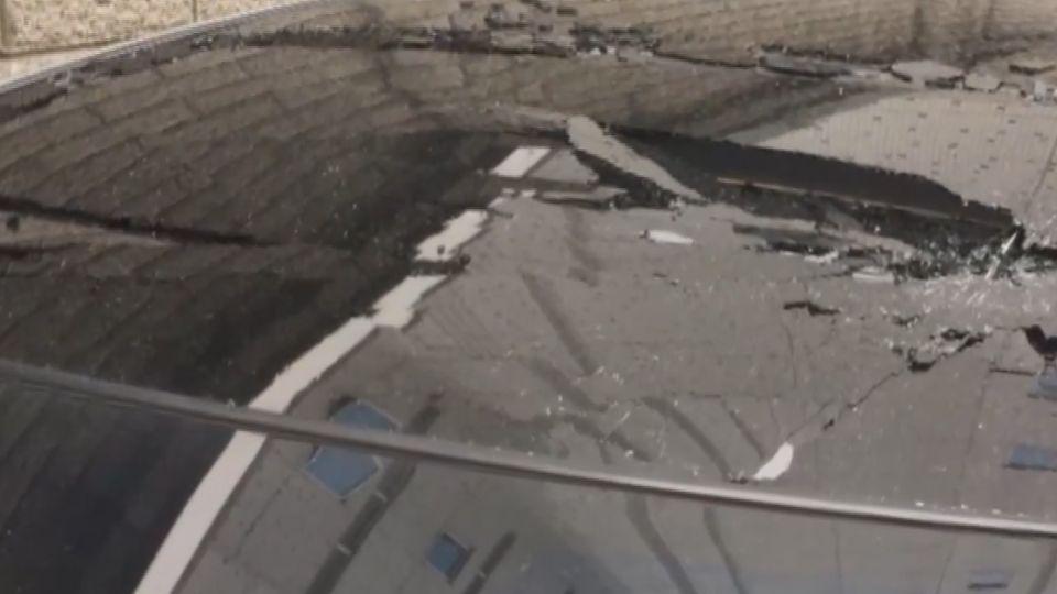 治安破洞!「石攻」怪客連2天4波攻擊 車毀人險傷