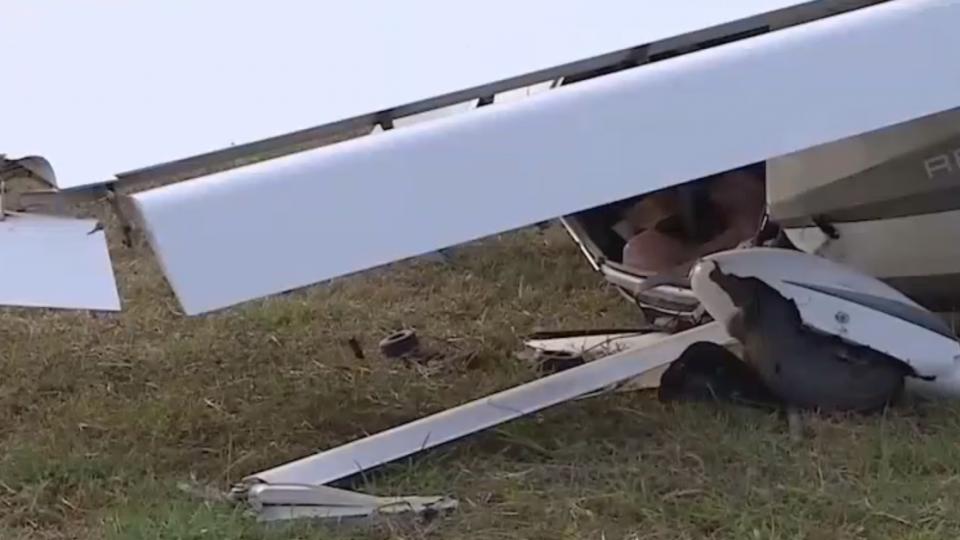 氣旋影響 高樹輕航機摔落 教練、學員輕傷