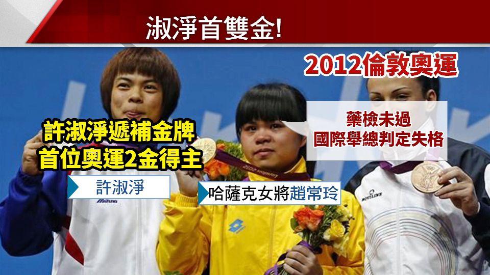台首位奧運雙金得主!許淑淨遞補倫奧金牌