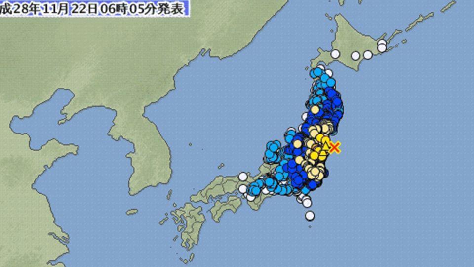 日本7.4強震已出現1公尺海嘯 NHK:回想311,快避難!