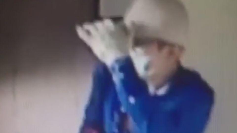 工作服藍衣賊「進出5次」 現金名錶機上盒全偷