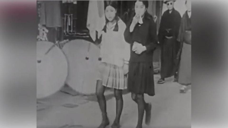 二戰前紀錄片驚見「短裙黑絲襪」櫻花妹!網友都瘋狂