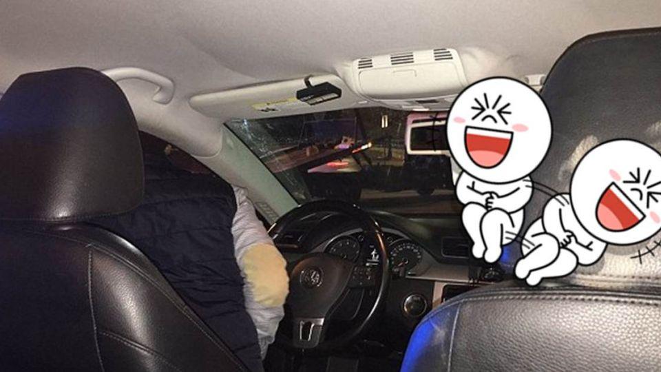 濃妝女出車禍衝撞前座椅背 猙獰表情完美「轉印」笑翻網友