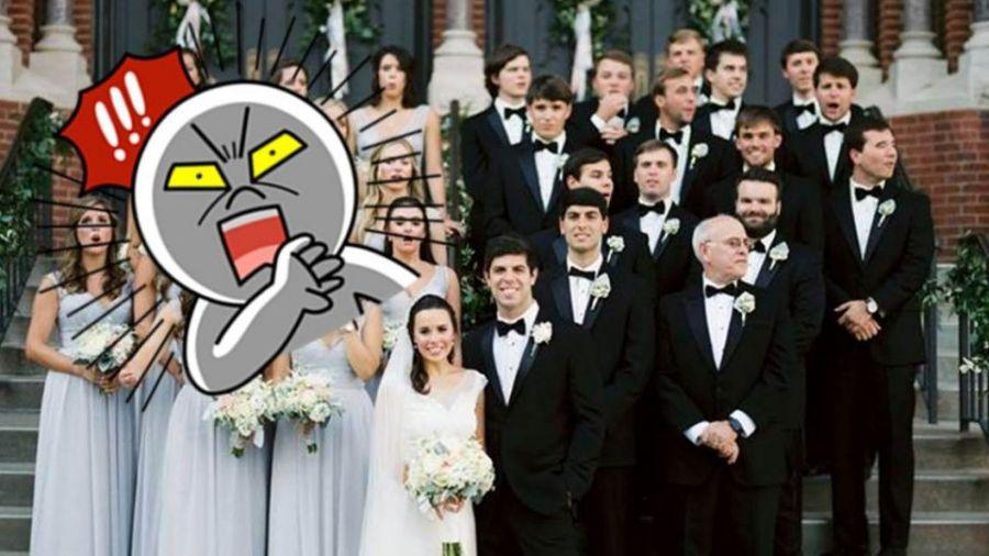 有圖有真相!婚攝險被撞飛瞬間 拍下14位伴娘「花容失色」