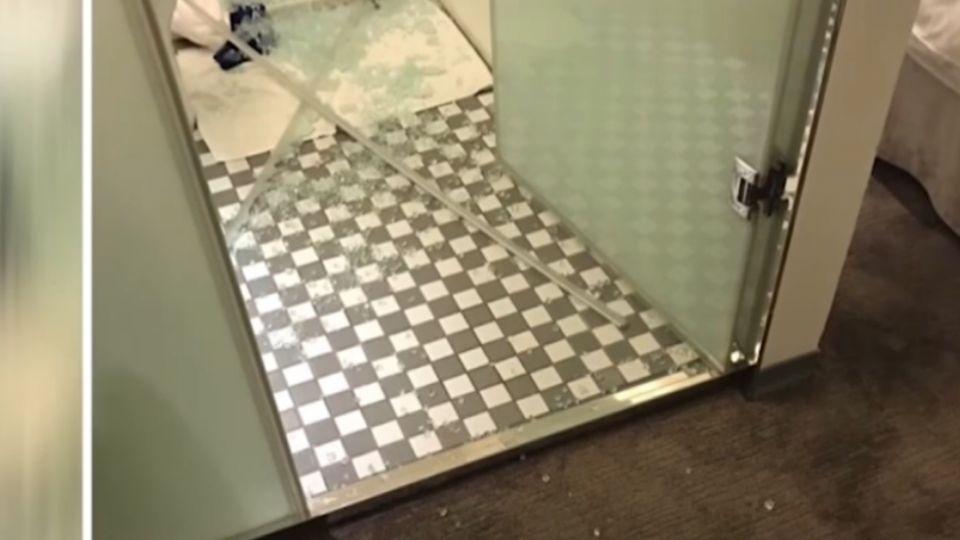 洗澡洗一半…玻璃門突爆裂 港女遊台驚魂記