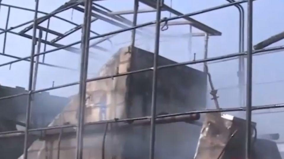 進香團國道莫名火燒車 逾20尊神像燒毀