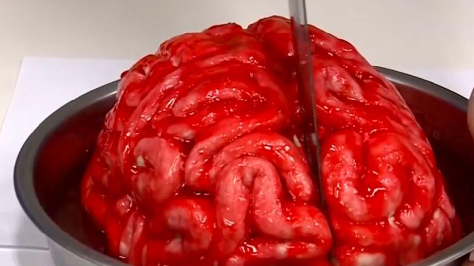 大腦蛋糕、眼球果凍 生物課教學搞創意