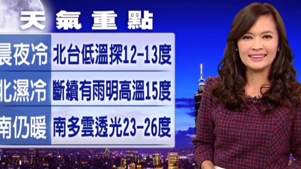 【2017/03/07】明冷氣團+華南雲雨區 北濕冷 中涼 南暖