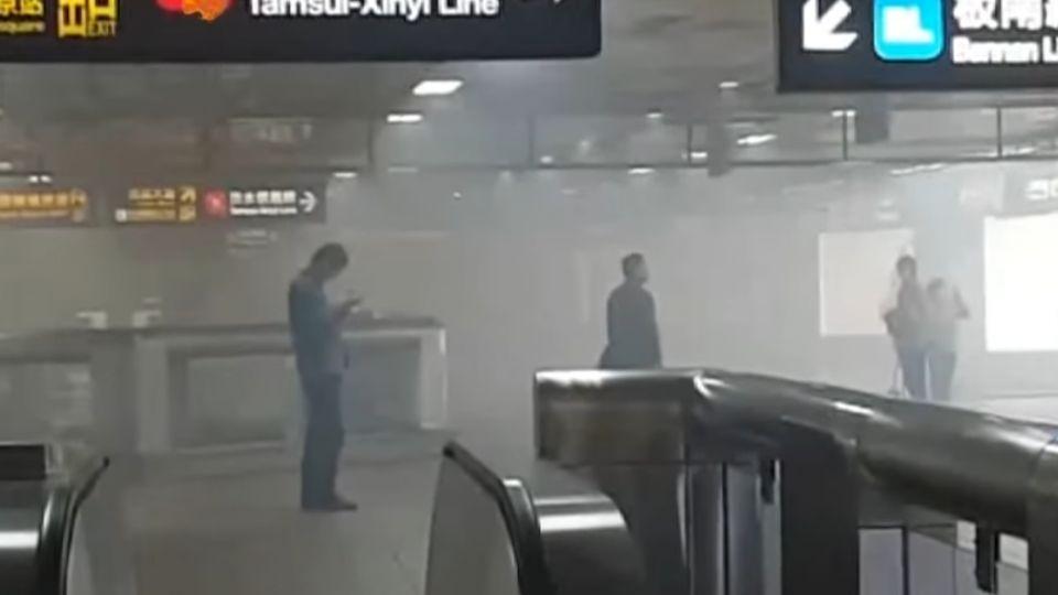 北捷北車電扶梯冒濃煙 20列車過站不停