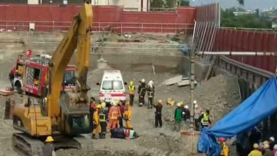 受困80分鐘!台中工地擋土牆倒塌 工人慘遭瓦礫活埋
