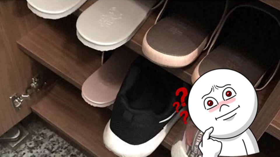 花1萬5訂做鞋櫃長這樣 網友傻眼:設計師哪位?