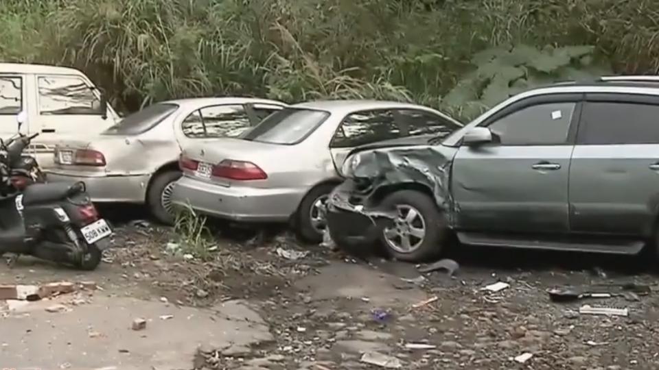 酒駕又遇剎車失靈 大貨車連環撞毀14車