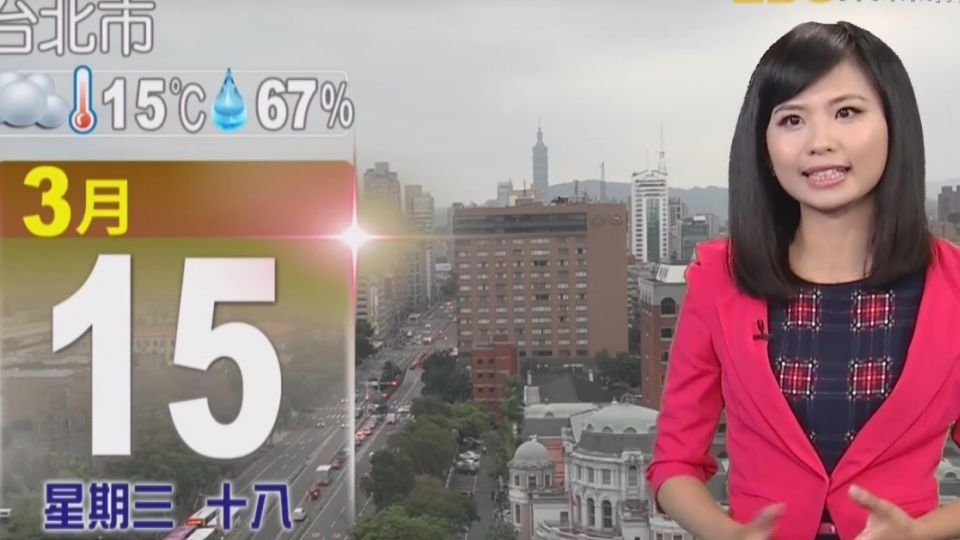 【2017/03/15】濕冷到明天!北台低溫13度 周五漸回溫