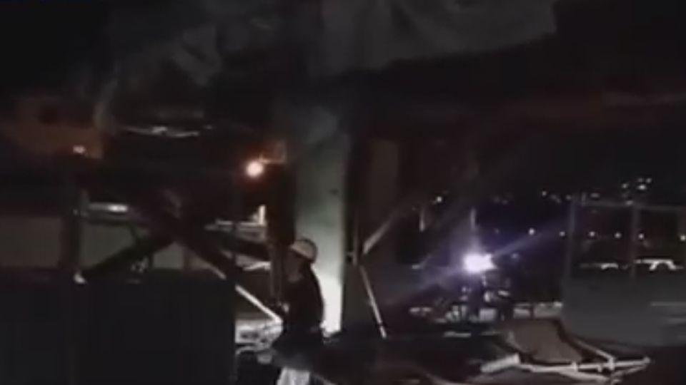 撞倒淡海輕軌托架 貨櫃車駕駛遭指肇逃求償70萬