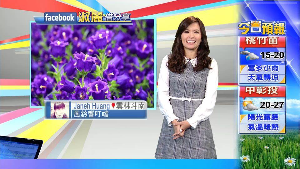 【2017/03/21】今鋒面過+季風增 北東零星雨 中南陽光照