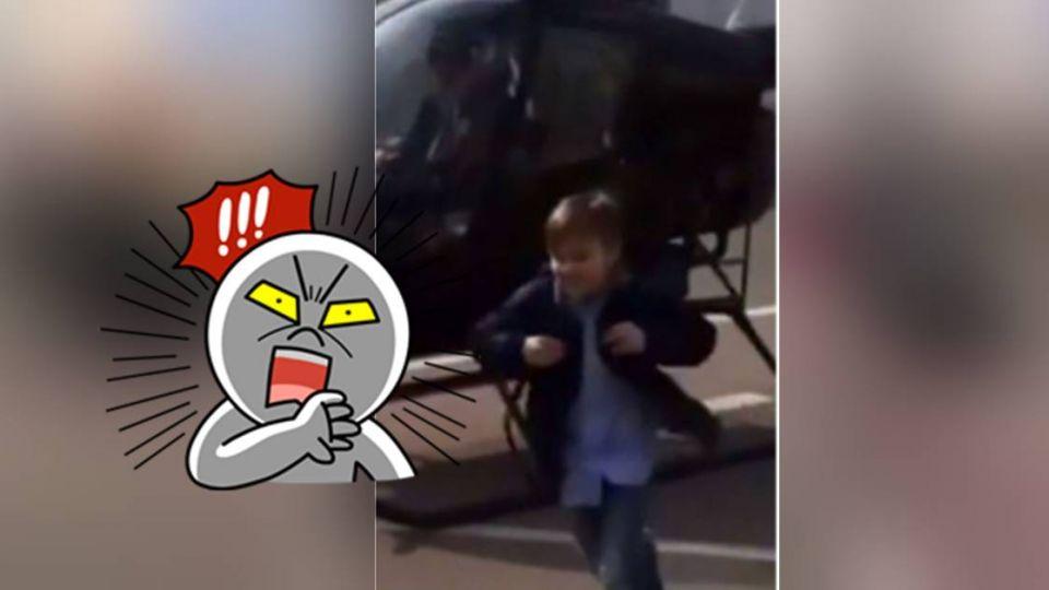 史無前例!上學快遲到超狂老爸開「直升機」送到校 下秒悲劇了