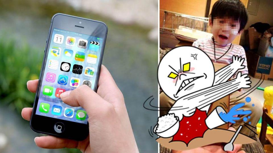 小孩吵著玩手機出妙招 網友跟受驚:先把手機打爛