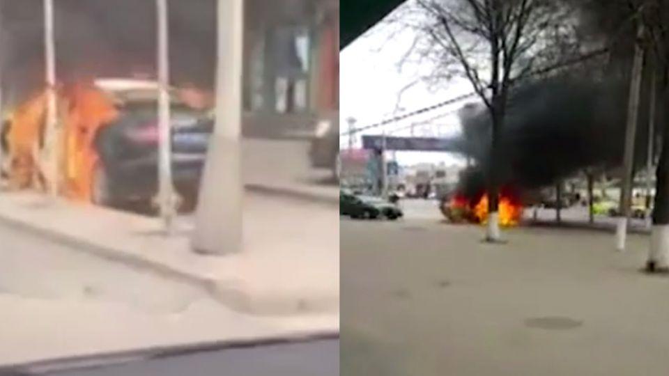 【影片】獨留車內!2男童無聊玩「打火機」…整輛奧迪A6燒精光