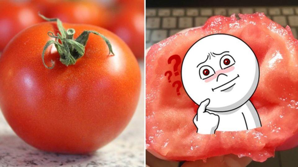 番茄咬一口驚見裡面藏 「草莓」 網友笑:外遇了?