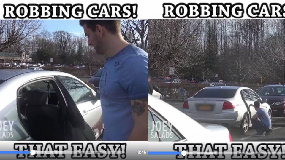 【影片】偷你車超容易!街頭實驗一秒開車門竊取財物