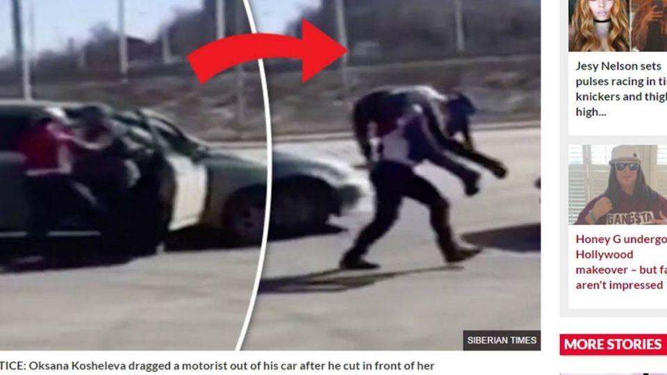 惹錯人!三寶駕駛危險切線 她一肩扛起丟後車廂