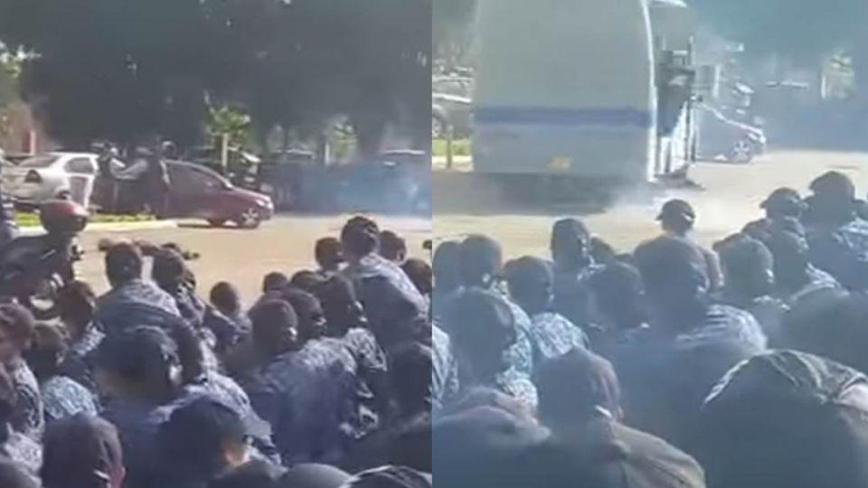驚!哥國烏龍演習「扮演傷患」 教官當場被巴士輾斃