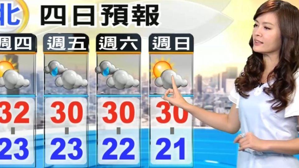 【2017/05/04】鋒前暖區 今白天更暖熱 午後山區陣雨