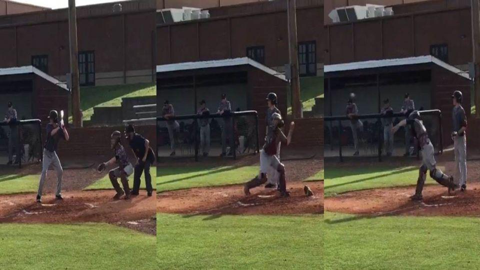 超勵志!獨臂少年打棒球 蹲捕抓盜壘沒在怕