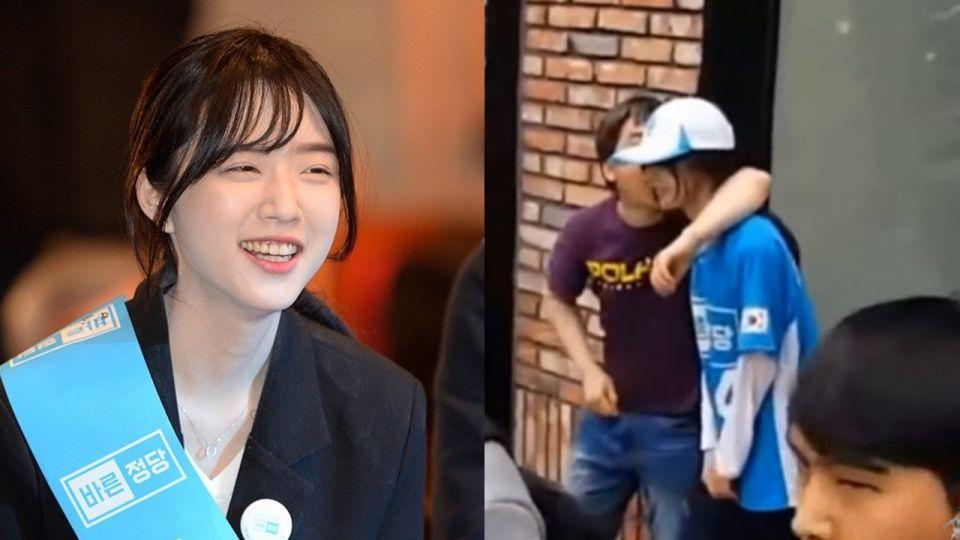 韓總統候選人女兒拉票被性騷 「勾脖舔臉」影片曝光