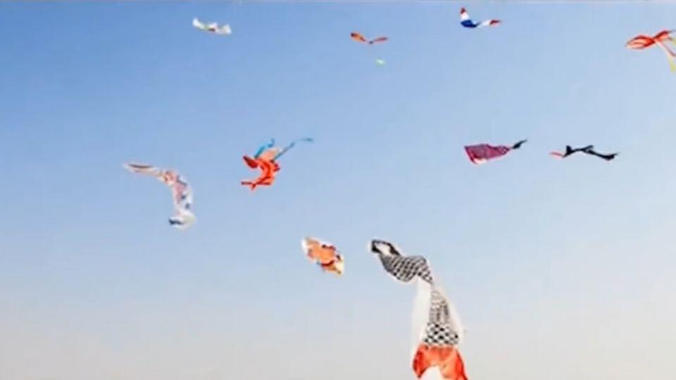 扯!大陸風箏節官方宣傳片 出現台灣國旗風箏