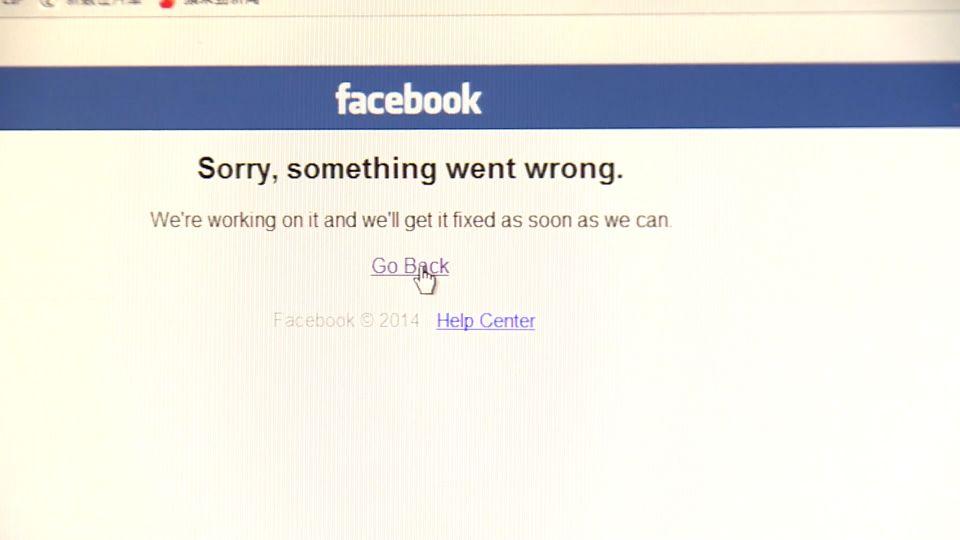 臉書上午一度大當機無法登錄 全球網友哀號