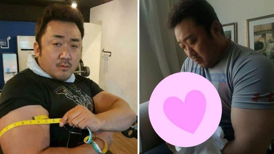 《屍速》馬東錫哄姪子入睡 手臂「比2個嬰兒粗」超反差!