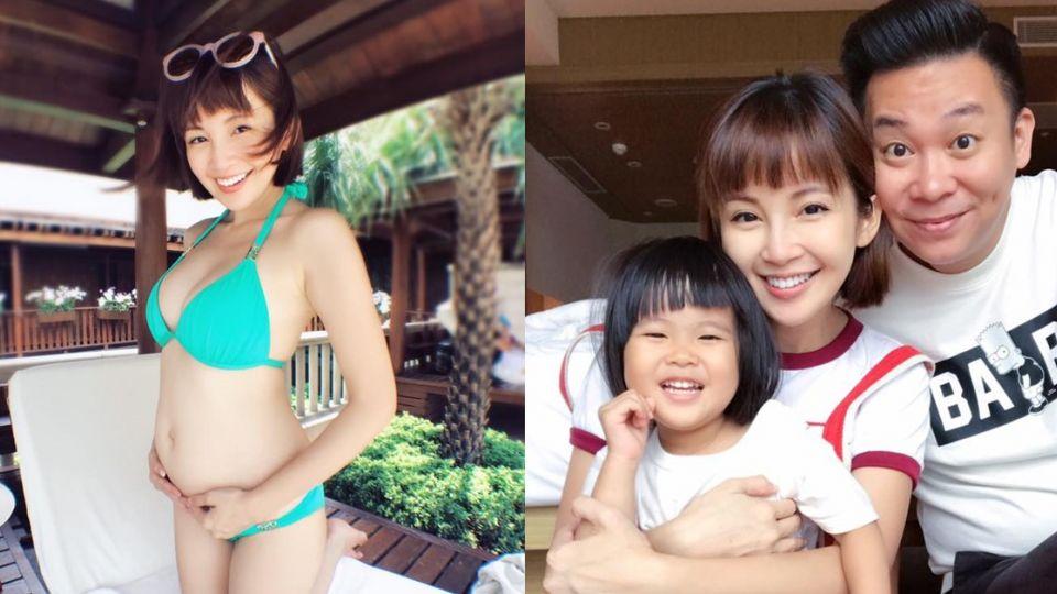 一笑腿就開!鐘欣怡樂宣布2胎是男孩 老公心疼考慮結紮