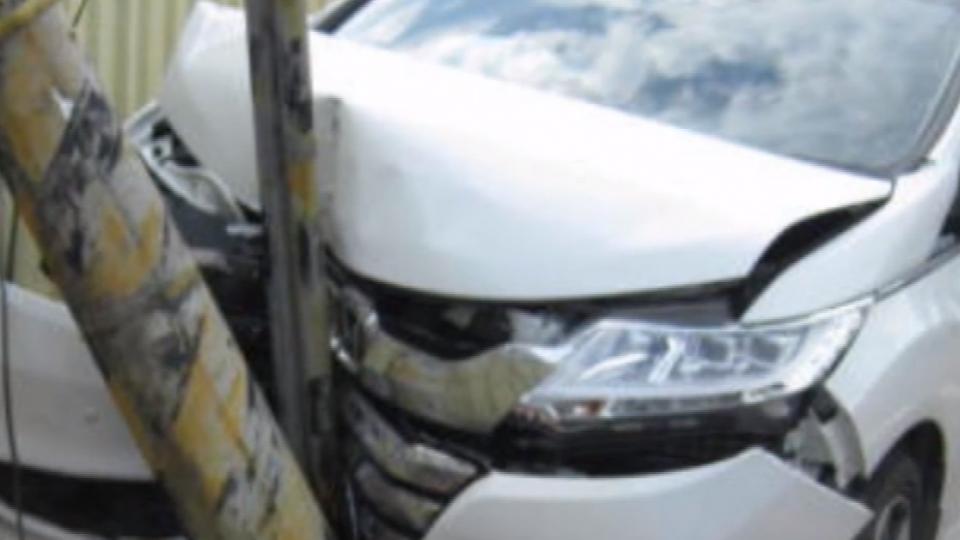疑懷孕高血壓暈眩 28周孕婦開車失控撞電桿