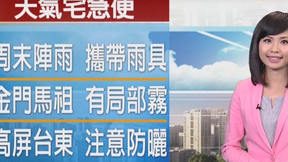 【2017/05/13】大雨特報!新竹以北局部大雨 注意雷擊