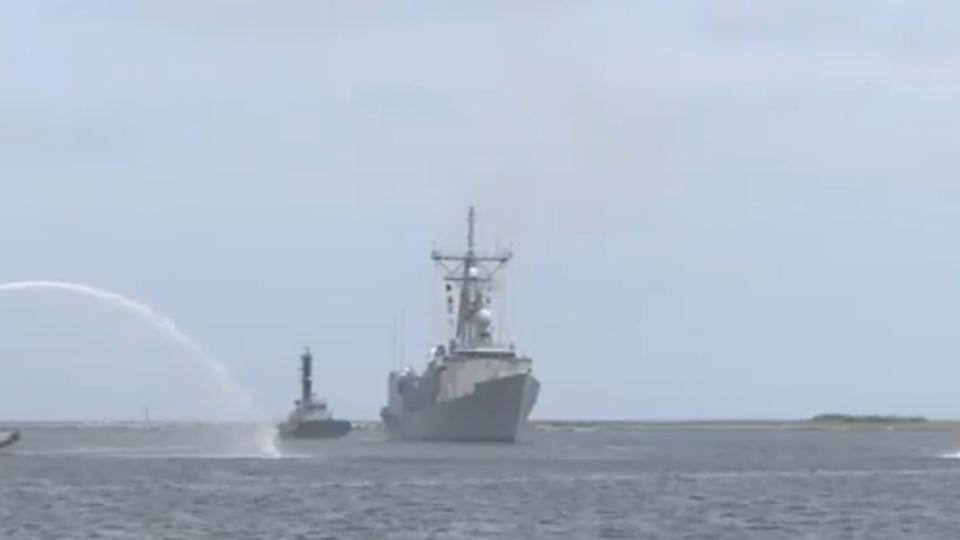 美派里級軍艦銘傳號、逢甲號 返抵左營軍港