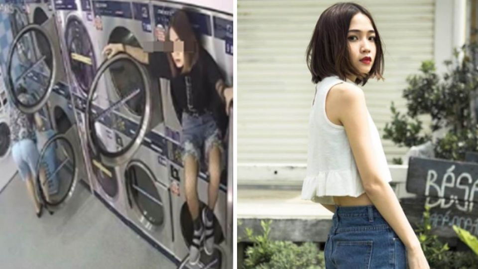 爬洗衣機的是她!女模PO文道歉:讓大家失望了