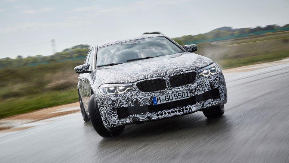 四驅猛獸出閘 BMW M5偽裝車官網現蹤