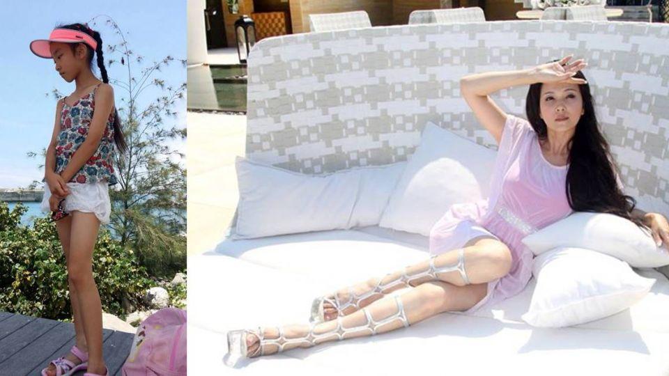 遺傳美魔女基因!丁國琳曬愛女 「修長雙腿」正翻了