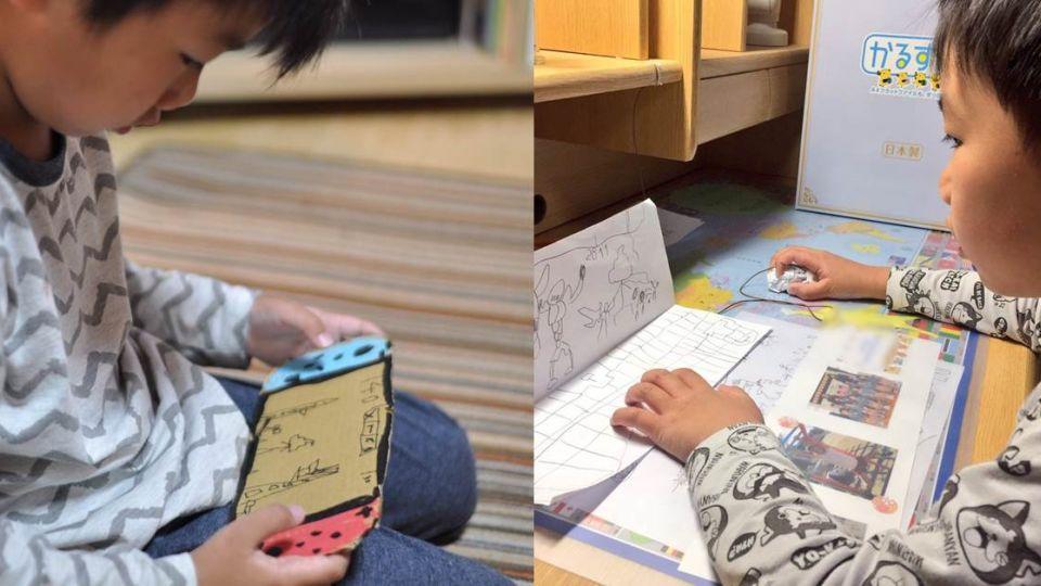 最貼心的升級!兒子手繪紙板當遊戲機 暖爸驚喜有洋蔥