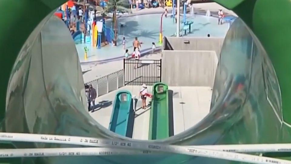 加州水上樂園開幕意外 男童摔出滑水道