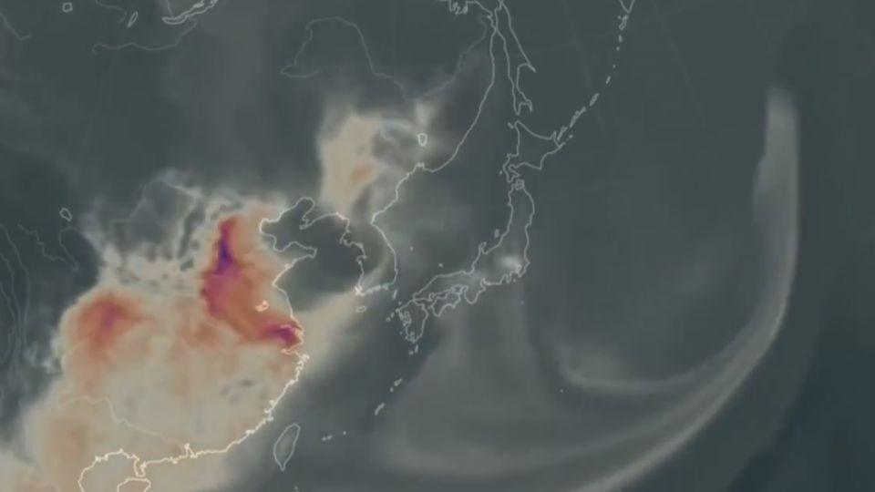 NASA模擬一氧化碳變化 台冬天「空汙」引發討論