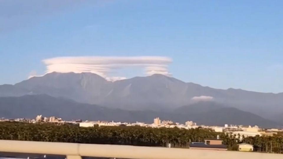 大武山區出現奇雲 民眾拍下PO網:好像飛碟