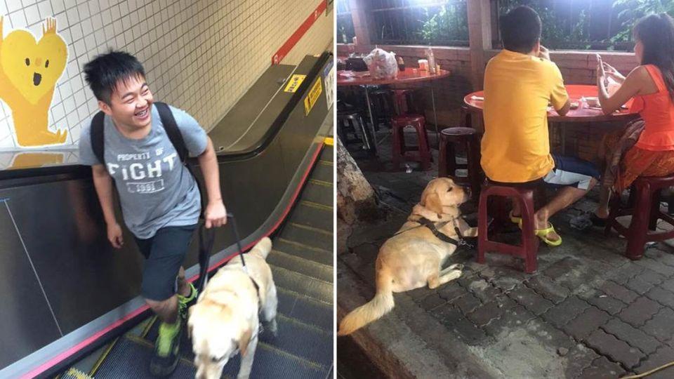 「我的小孩怕狗」!視障生迫改坐人行道卻被媽媽感動
