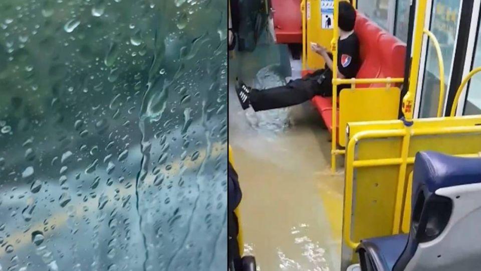 扯!暴雨狂轟北海岸 三芝公車淹成「泡腳大眾池」