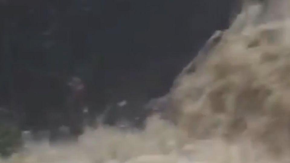 內湖暴雨灌民宅 如「水壩洩洪」住戶怒罵