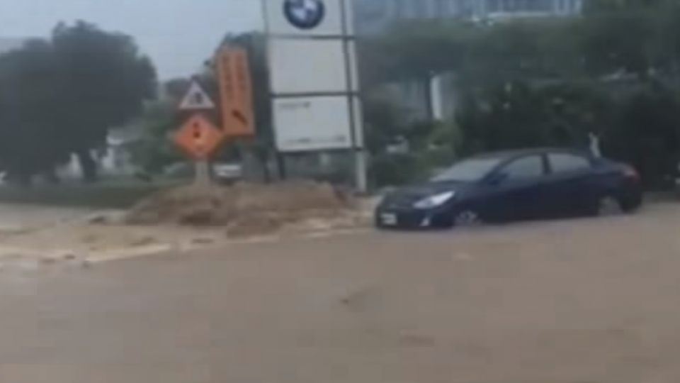 暴雨狂襲雙北市 雙B進口車廠成受災戶